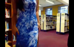 Was caught nude in the school library