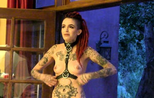 Inked Beauty Posing Bare
