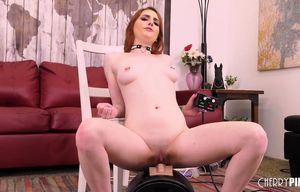 Flamy Sandy-haired Damsel Drains With..