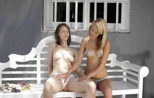 two teens hook up for some girly joy